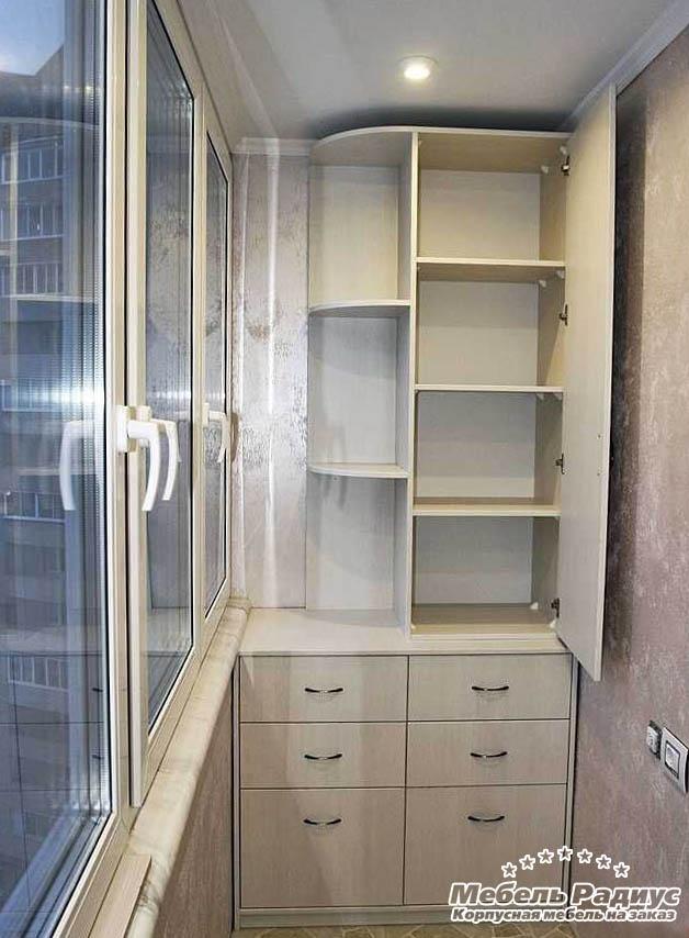 шкаф для балкона на заказ в харькове цены и фото 2018 мебель радиус